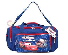 Item No:CM-07  Disney Pixar Cars Mcqueen Travel Sports Bag Product Details  Disney Pixar Cars McQueen with Tow Truck Travel/ Gym/Sports Bag   Main zip closure with large compartment   Both sides has round zip pocket with mesh pockets for keep small necessities organized  Long adjustable shoulder strap and top grip handle