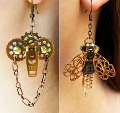Steampunk Earrings by Pete and Veronica. This mother duaghter duo have some gorgeous designs: http://cdn.stylefrizz.com/img/whimsical-handmade-earrings-steampunk-pete-and-veronica.jpg