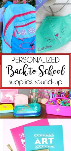 AD: This is a roundup of the best personalized back to school supplies for the 2020 school year. Use a Cricut cutting machine to create these projects. College Hacks, School Hacks, Diy Craft Projects, Diy Crafts, Photography Themes, Interesting Blogs, Back To School Supplies, Clothes Crafts, Raising Kids