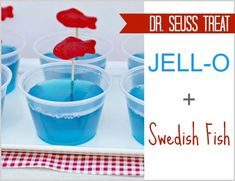 cute for a Dr. Suess party or Dr. Suess day celebration for kids and a little malibu for the adults