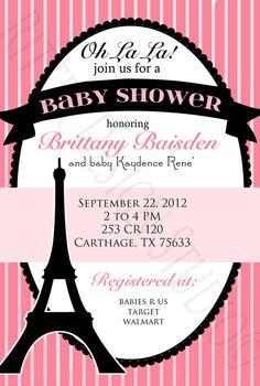 Paris Themed Chic Baby Shower Invitation  by RitterDesignStudio, $15.00