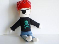 Boy Pirate Rag Doll by JoyMadeIt on Etsy, $35.00