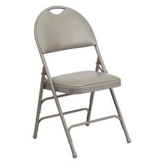 Flash Furniture HA-MC705A Hercules Series Extra Large Ultra-Premium Metal Folding Chair with Easy-Carry Handle - HA-MC705AF-3-NVY-GG