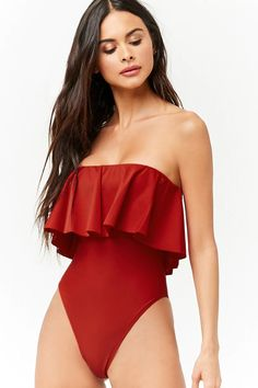 Product Name:Flounce One-Piece Swimsuit, Category:CLEARANCE_ZERO, Price:27.9