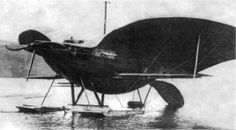 Alexandre Goupil's Machine Volante, designed in 1883/4 as a glider but planned for a steam engine, as built by Glenn Curtiss in 1916 (he was involved in a patent fight with the Wright brothers and wanted to prove that Goupil and others had already built machines that flew with a control system similar to the one the Wrights had patented.)