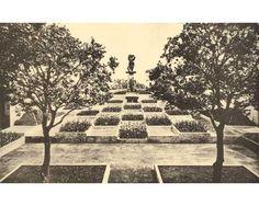 modernist garden designed by Gabriel Guevrekian at the Art Deco style Villa Noailles at Hyeres, for Vicomte Charles and Marie-Laure de Noailles