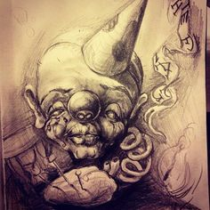 Sick Jack in the box sketch by Sunkee. Australian Tattoo Scene. #tattoo #tattoos #draw #sketch #art