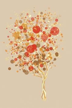 Candy Bubble Tree  12x18 Print by papermoth on Etsy, $35.00
