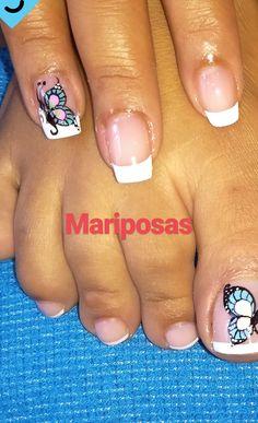 New Nail Art, Short Nail Designs, Just Girly Things, Short Nails, Nails Design, Toe Nails, Pretty Nails, Pedicure, Hair And Nails