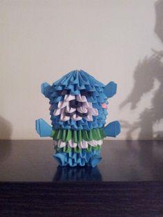 ORIGAMI 3D. Blue Teddy bear, piezas de 6x4.