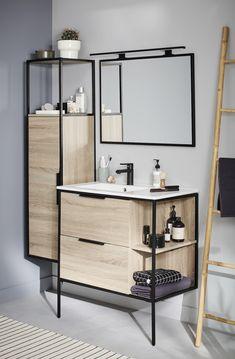 Bathroom Remodel - Make Your Bathroom Bigger - ideasfyou Modern Bathroom Design, Contemporary Bathrooms, Bathroom Interior Design, Luxury Bathrooms, Master Bathrooms, Metal Furniture, Bathroom Furniture, Bathroom Faucets, Small Bathroom