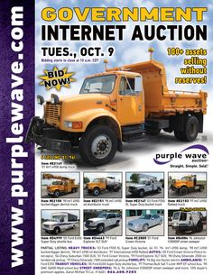 Government Auction  October 9, 2012  http://purplewave.co/121009