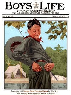 """Boys' Life - ''Hooked by his own line'' -- """"Protecting our boys' Christian moral values and male gender identity from today's gender confusion agenda. American Buffet, Boys Life Magazine, Male Gender, Adventure Magazine, Life Cover, Vintage Boys, Norman Rockwell, Vintage Magazines, Happy Kids"""