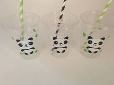 Panda party cups Panda Birthday Party cups