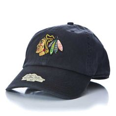 Chicago Blackhawks Black Indian Head Logo Fitted Franchise Hat by '47 Brand #Chicago #Blackhawks #ChicagoBlackhawks #FittedHat #Hat #StanleyCup #BecauseItsTheCup