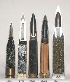 El interior de las balas