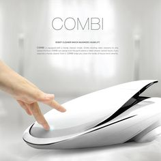 COMBI – Robotic Vacuum Cleaner by Gwang Chae Jung - The Combi is a robotic vacuum cleaner that cleans your space efficiently. It features an integrated dust buster to get to those hard-to-reach nooks. | Yanko Design