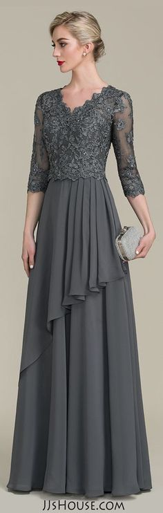 df9620ee8c7 A-Line Princess V-neck Floor-Length Chiffon Lace Mother of the Bride Dress  With . A-Line Princess V-neck Floor-Length Chiffon Lace Mother of the Bride  Dress ...
