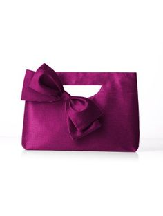 foldover clutch bag with bow