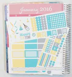 New Years Sampler Kit perfect for the Horizontal Layout  Stickers come in varying sizes (see photos above as reference)  The photos above