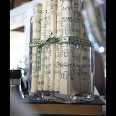 Music themed - Whatever game sheets can be printed on the back of Sheet Music!