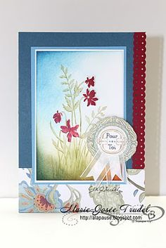 A La Pause: Z Frame It t Marie-Josée Trudel Stampin Up