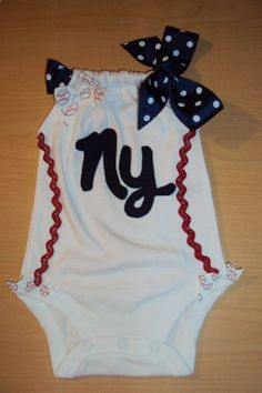 Baby Girls Baseball Romper Onesies For Your Little by DaintyBoTeek, $24.00