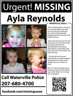 Ayla Reynolds Probably deceased, reported by another site
