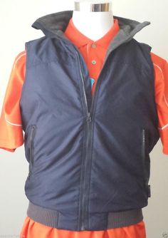 #CHAPS Men Size S vest (windbreaker with fleece lining , full zip) warm NWT BLUE visit our ebay store at  http://stores.ebay.com/esquirestore