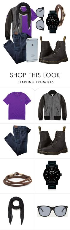 """Aaron"" by theblueraider ❤ liked on Polyvore featuring Ralph Lauren, Golden Bear, Dr. Martens, Caputo & Co., Nixon, McQ by Alexander McQueen, Bally, Moshi, men's fashion and menswear"