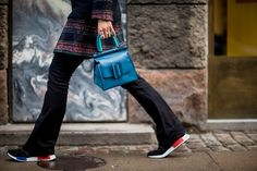 Though Thailand based designers Jesse Dorsey and Wannasiri Kongman brought their label BOYY to the US market only a few of years ago, they've already made their mark with boxy, yet clean, handbag silhouettes with oversized buckle details. I've got my eye on the double compartment style with a magnetic flap closure. Super chic!