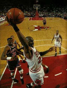 Jordan With The Rebound, '93 East Finals.