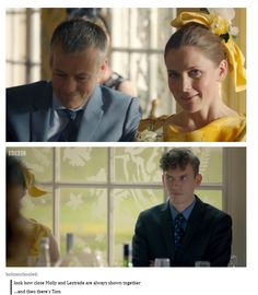 It's because Molly and Tom are part of the group, Tom has a foot in the group and were all very suspicious of him.