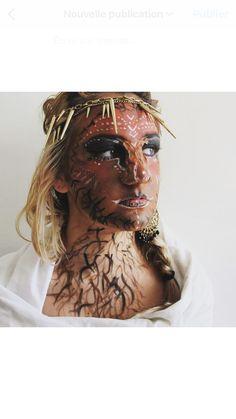 Body painting makeup face arbre