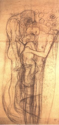 Gustav Klimt: Study for Three Ages of Woman
