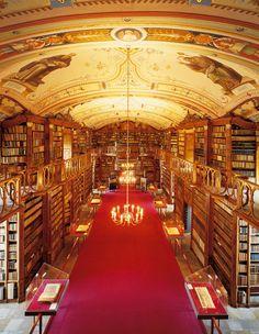 Monastery library at Aigen-Schlägl (Austria) Bibliophile, Libraries, Austria, The Incredibles, Places, Book Art, Books, Buildings, Marketing