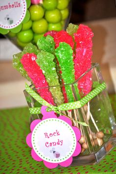 For pink and green ladybug party!!
