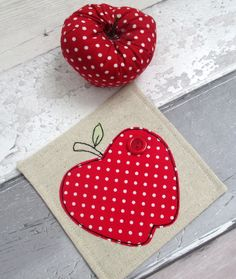 Thank You Gift - Red Apple Coaster - Drinks Coaster - Teacher Gift £6.50