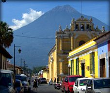 Antigua, Guatemala - charming Spanish colonial city surrounded by prehistoric volcanoes
