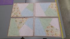 quilted placemats Place Mats Quilted, Longarm Quilting, Arms, Quilts, Blanket, Comforters, Blankets, Patch Quilt, Kilts