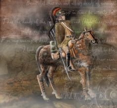 """Steam Punk (style) American Colonial Dragoon""    Digital Watercolor  Adobe Photoshop CS6 and Corel Painter"