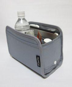 $28.50 CloverSac Emma 22, Grey Purse Organizer Insert for Longchamp Le Pliage Tote Medium Shoulder Bag 2605