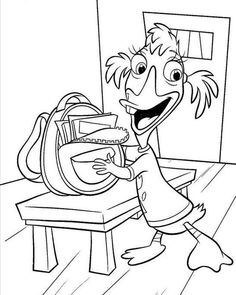Ebbey Prepare Coloring Page - Chicken Little car coloring pages