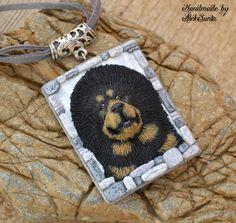 Dog jewelry Dog necklace Dog pendant by HandmadeByAleksanta