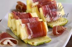 Pineapple Wrapped in Prosciutto - http://www.kingoffruit.com.au/pineapple-wrapped-in-prosciutto.html