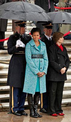 Michelle Obama Teal Coat