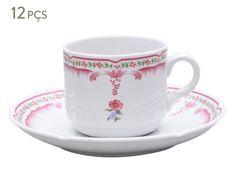 Conjunto de xícaras para café com pires provenza nina rosa | Westwing - Casa & Decoração