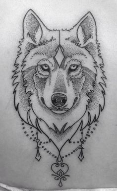 Download Free Wolf tattoo • Dot work • #tattoo #wolf #dotwork Tattoo by Kitty ... to use and take to your artist.