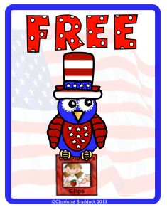 "Free July Owl Clip Art for previewing my newest clip art set - ""Owls All Year Round"" from Charlotte's Clips k 1 5"