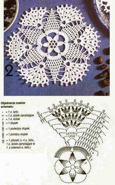 Kira scheme crochet: Scheme crochet no. Crochet Doily Diagram, Crochet Motif Patterns, Crochet Designs, Crochet Dollies, Crochet Flowers, Crochet Lace, Crochet Tablecloth, Thread Crochet, Beautiful Crochet